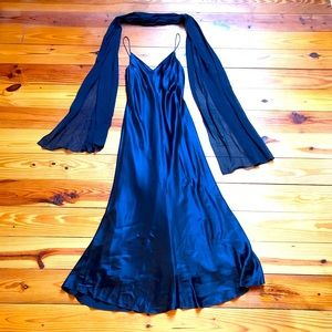 A.J. Bari Black Silk Evening Gown, EUC, 8